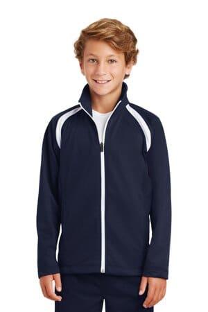 YST90 sport-tek youth tricot track jacket yst90