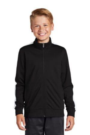 YST94 sport-tek youth tricot track jacket yst94