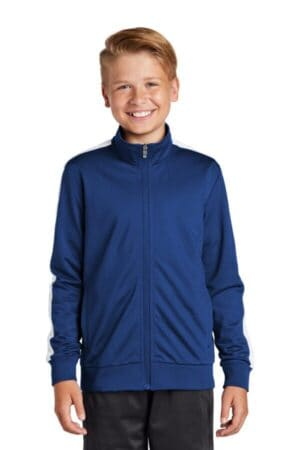 YST94 sport-tek youth tricot track jacket