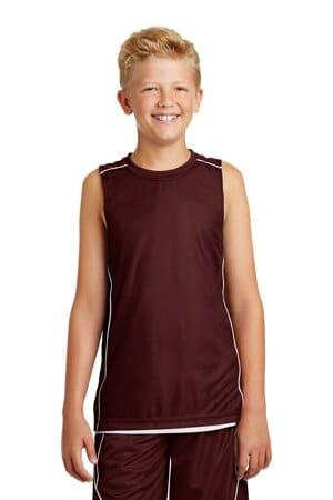 YT555 sport-tek youth posicharge mesh reversible sleeveless tee