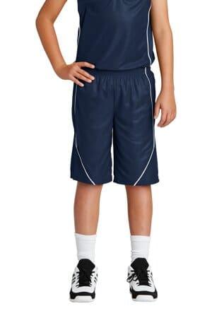 YT565 sport-tek youth posicharge mesh reversible spliced short