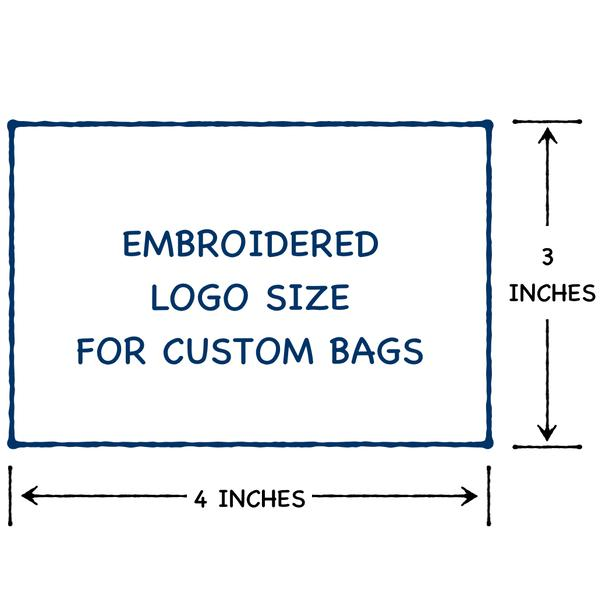 logo size for backpacks