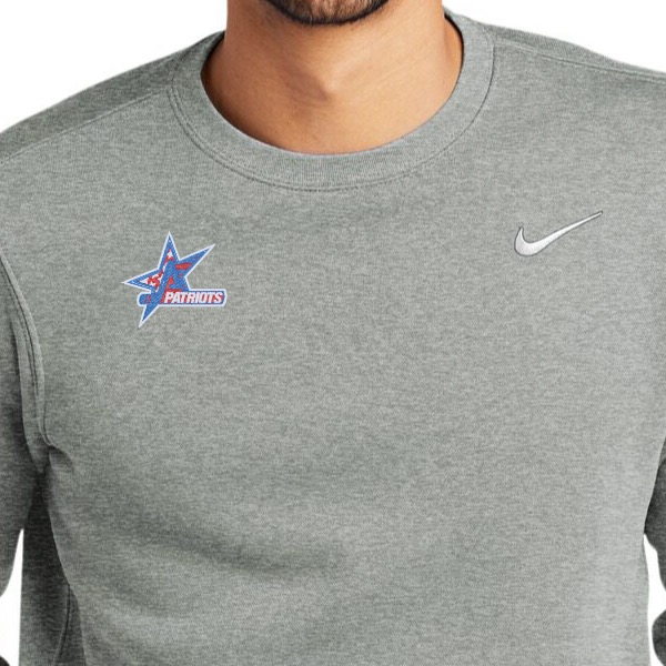 nike logo on left chest, your logo on right
