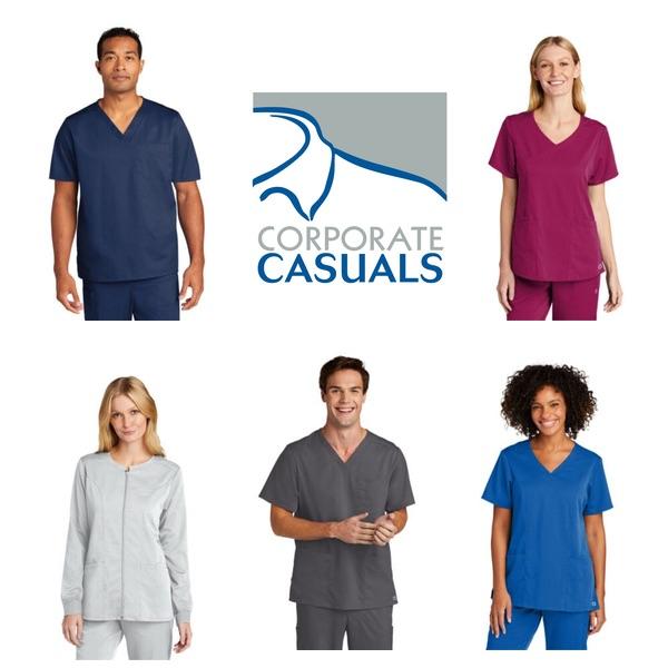 scrubs in various colors