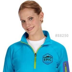 embroidered fleece jacket style 88250