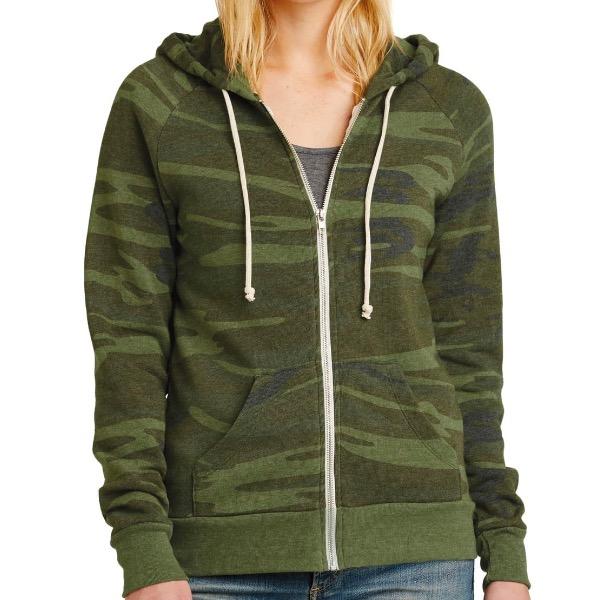 camo pattern sweatshirt