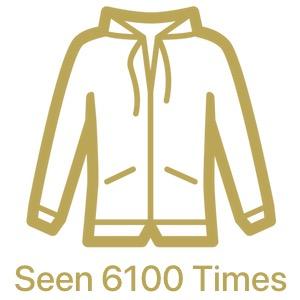 custom sweatshirts are seen 6100 times